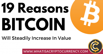 19 Reasons Why The Price of Bitcoin Will Steadily Increase